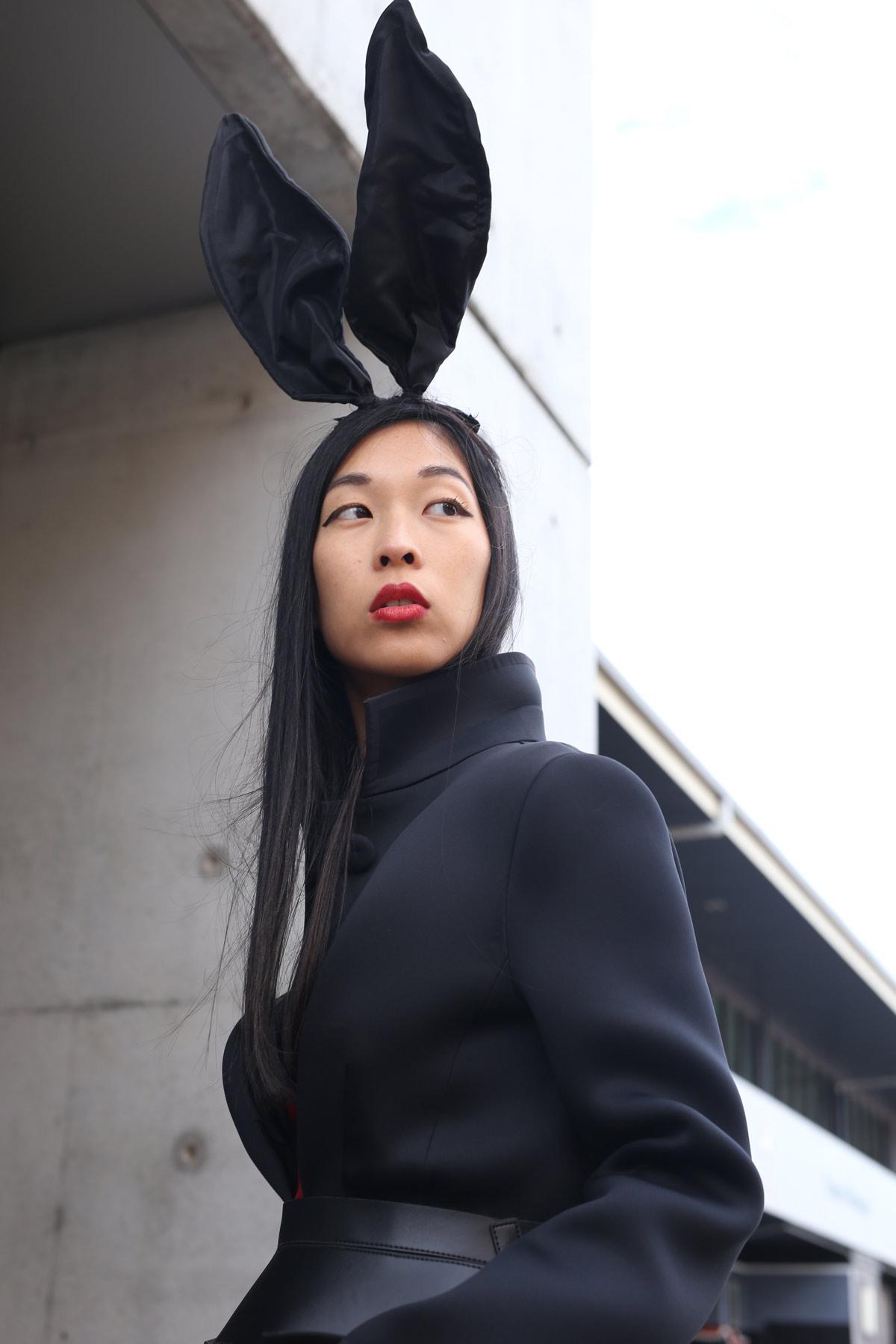 girl in the bunny ears, MBFWA, fashion week
