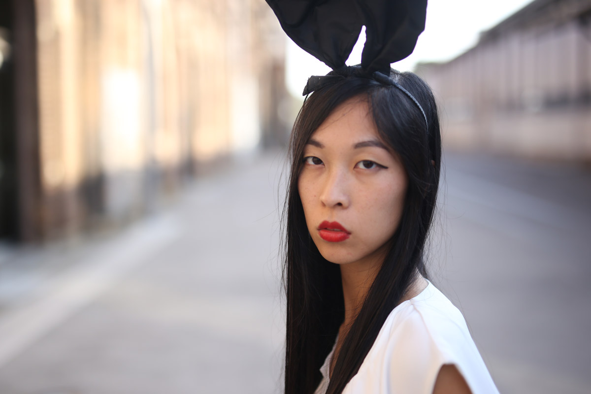 girl in the bunny ears, fashion week, MBFWA