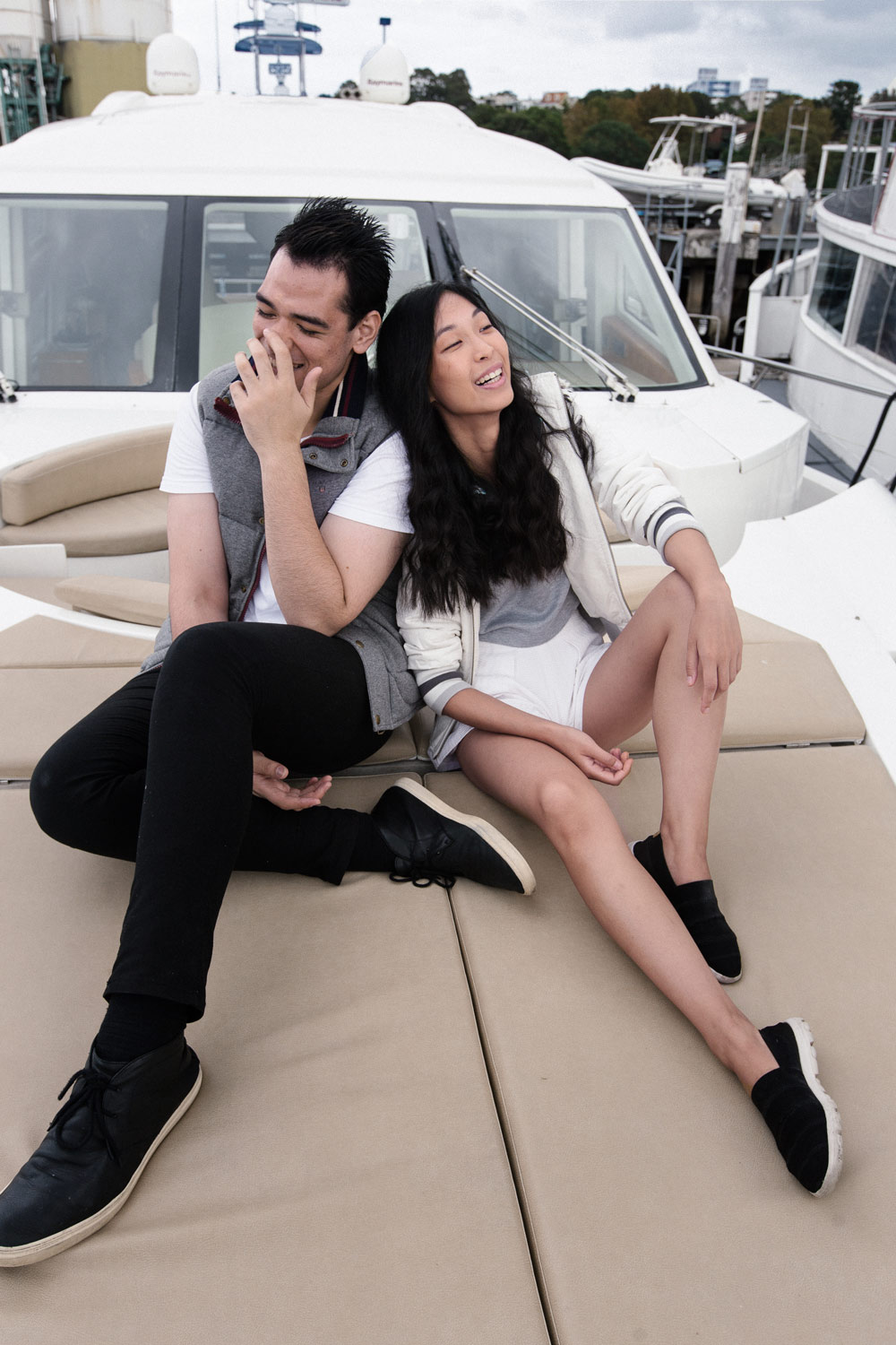 zhang pasi, boat shoot, yatch photoshoot