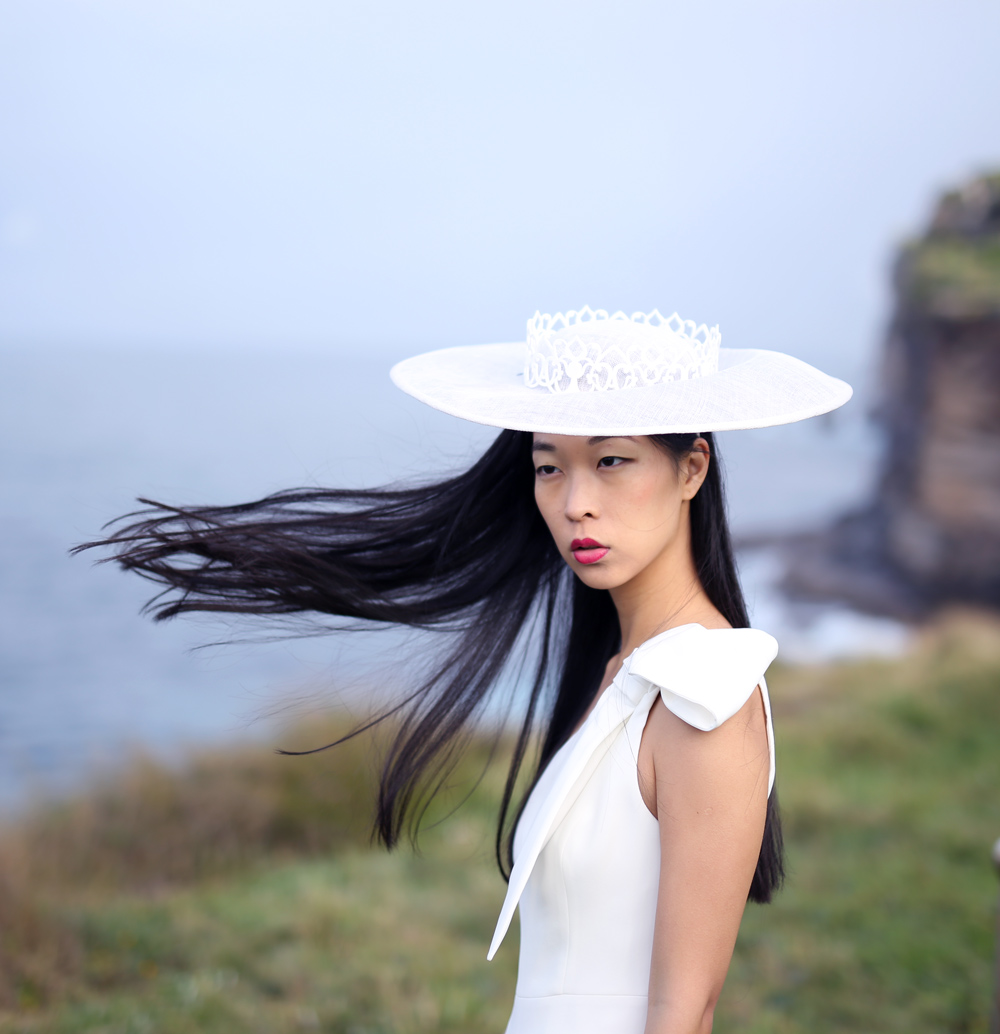 millinery, white hat