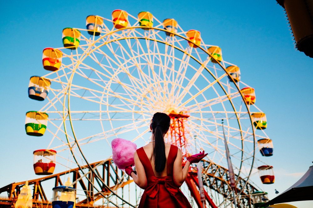 luna park, ferris wheel, fairy floss, blogger