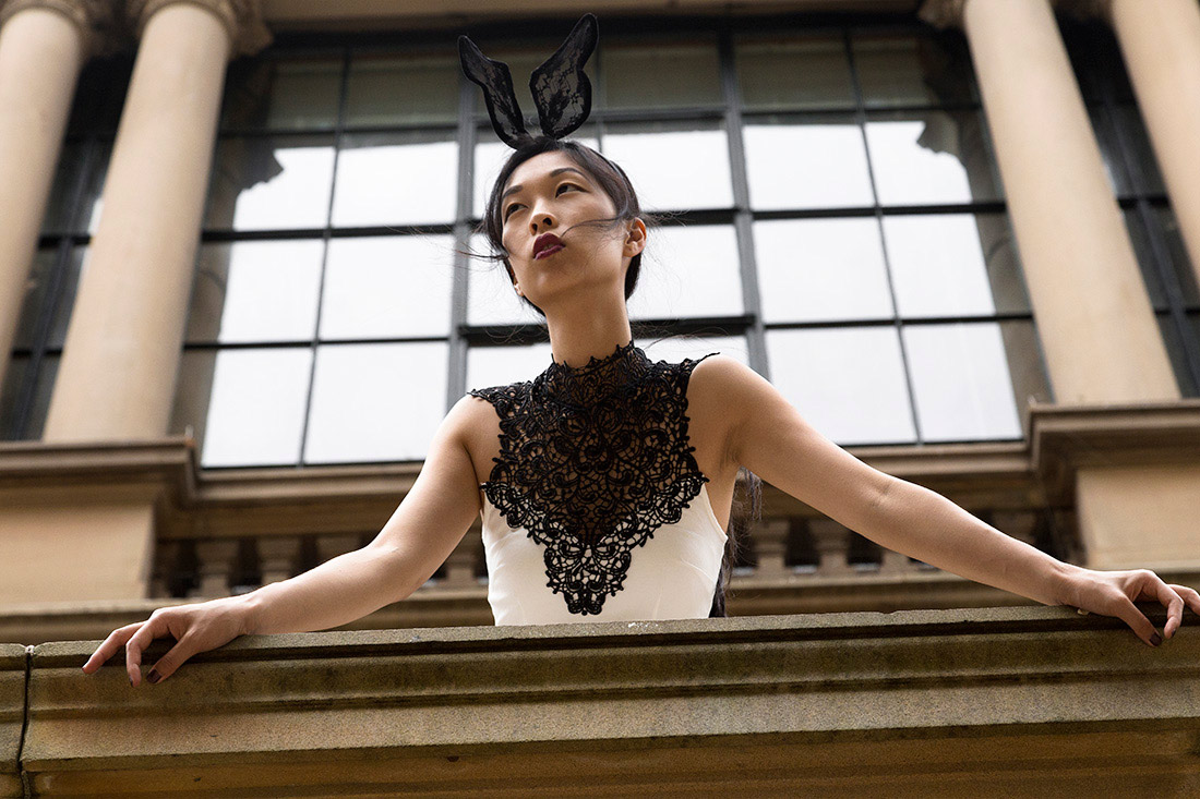 girl in the bunny ears, fashion blogger, cissy zhang