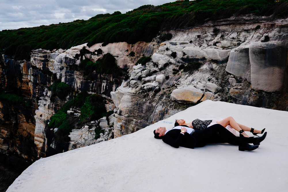 cissy zhang, warren pasi, wedding cake rock, blogger photoshoot, bundeena