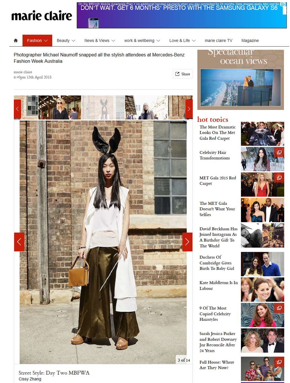 marie claire, cissy zhang, press, girl in the bunny ears