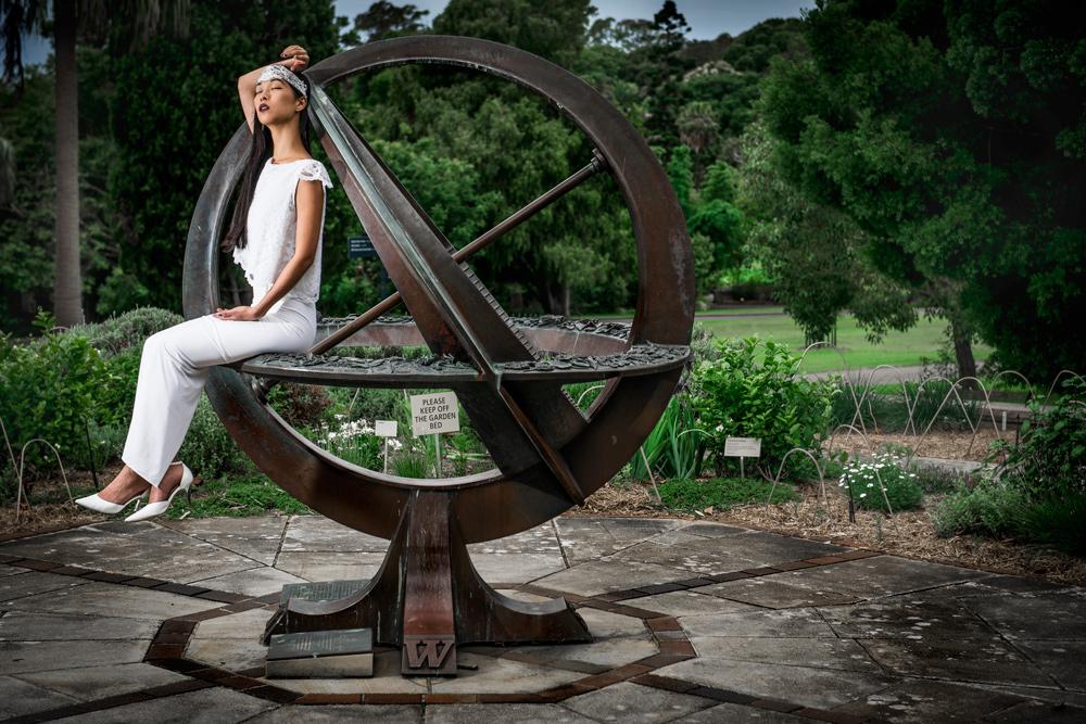 sundial, fashion shoot, begitta couture