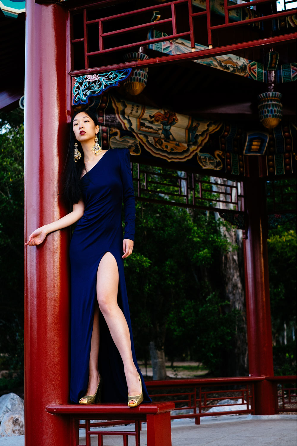 cissy zhang, chinese garden, photoshoot