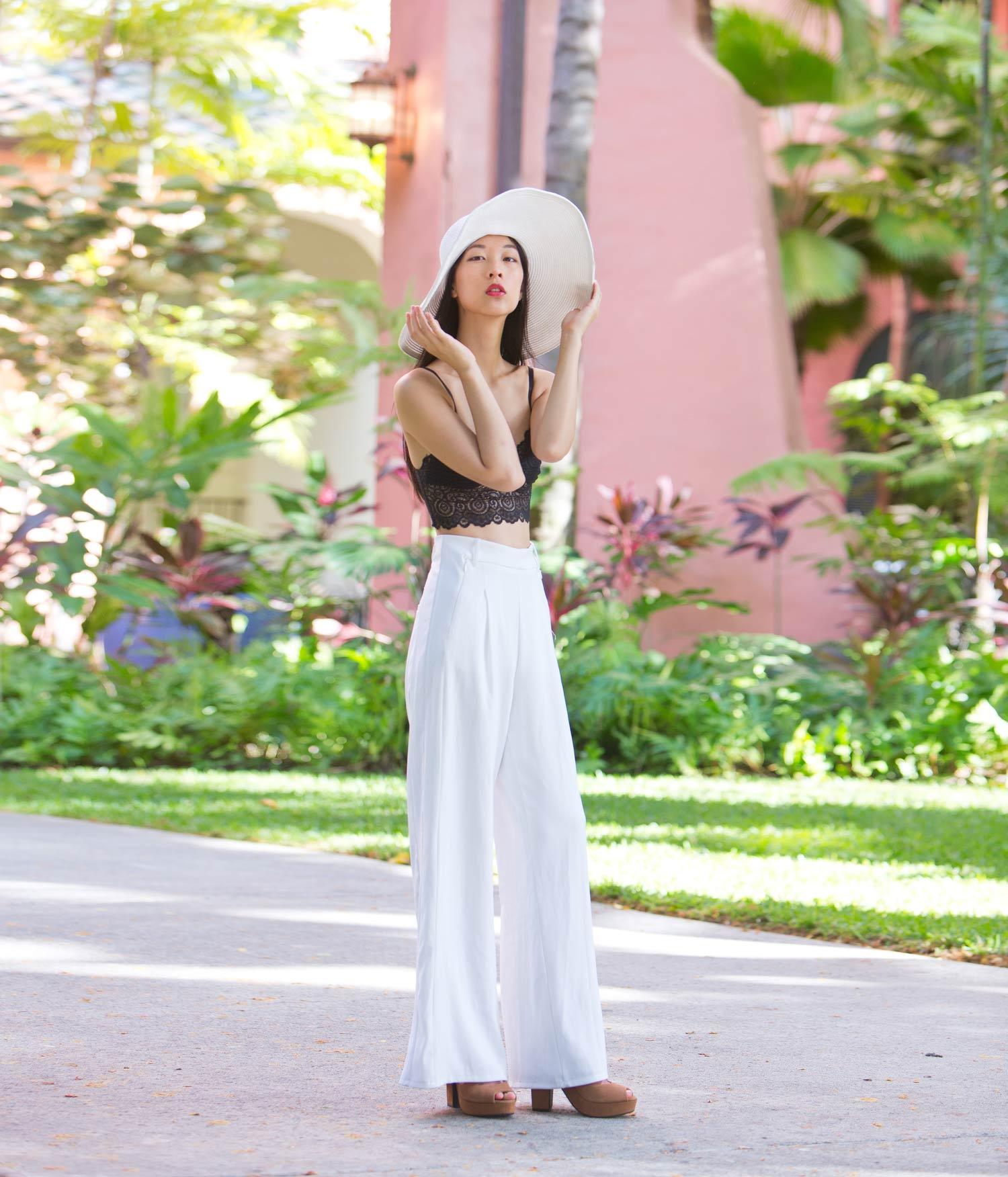 white pants, fashion blogger, cissy zhang