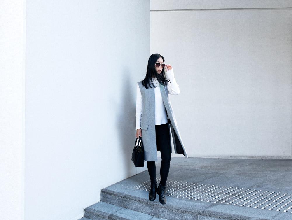 zara wool grey waistcoat jacket